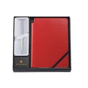 Cross Calais Collection Crimson Ballpoint Pen & Journal Gift Set