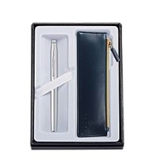 Classic Century Chrome Rollerball Pen w/Midnight Blue Pouch Gift Set