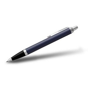 Parker® IM Matte Blue Pen w/Chrome Trim (Ballpoint)