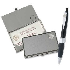 Business Card Case and Ballpoint Pen